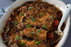 Griekse maalvleis-en-eiervruggebak