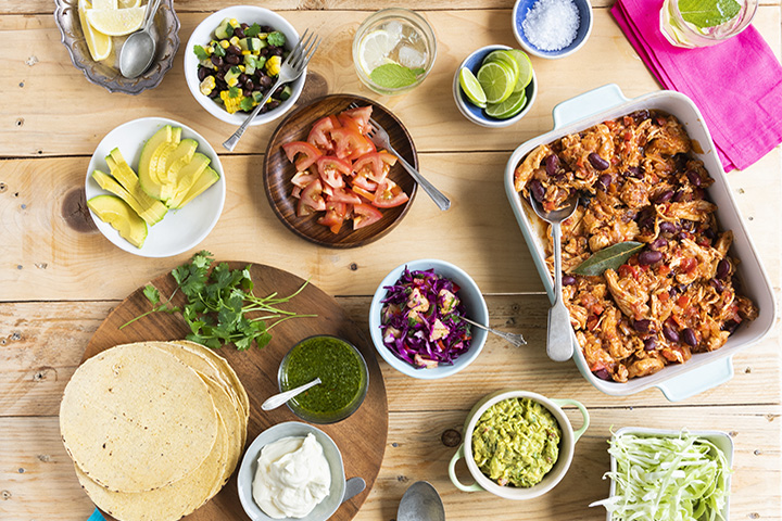Meksikaanse feestafel