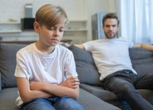 Pa en ongelukkige tienerseun